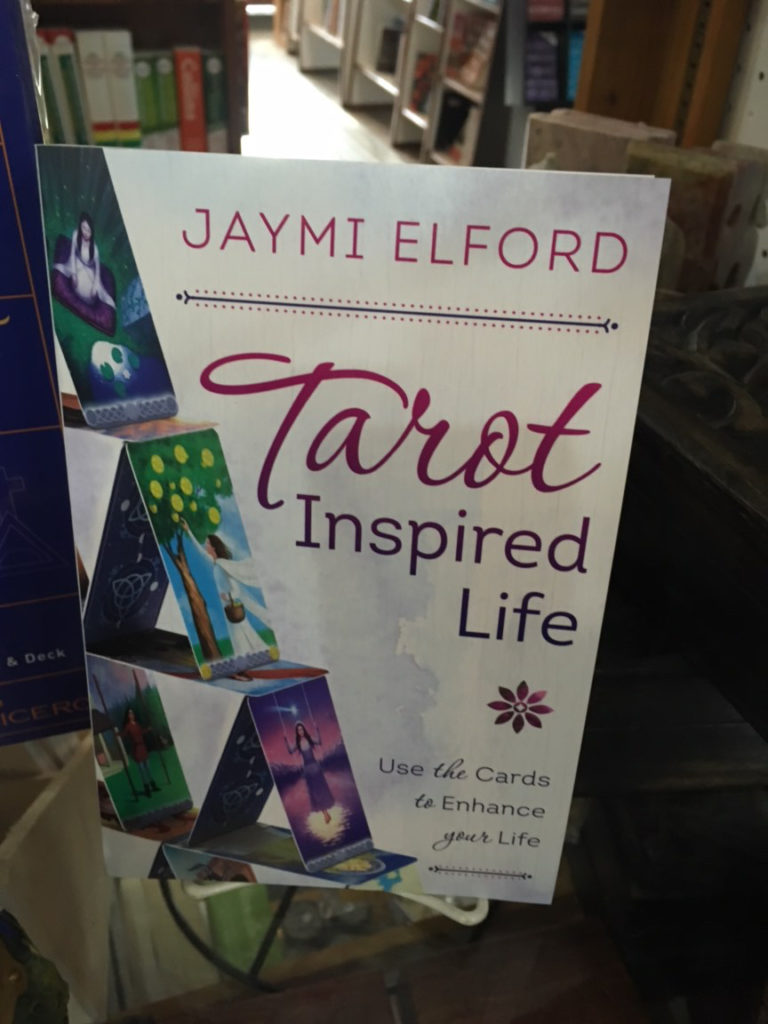 An image of my book, Tarot Inspired Life, spotted in Godfather's Books in Astoria, Oregon.